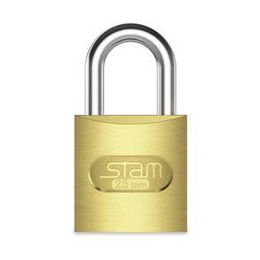 Cadeado com Chave Stam Zamac Latonado 25mm Dourado