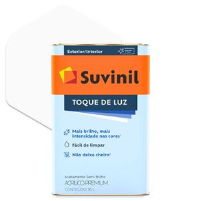 Tinta Acrílica Suvinil Toque de Luz Semibrilho Premium Branca 18 Litros