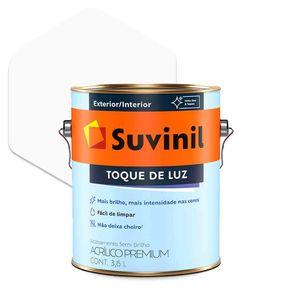 Tinta Acrílica Suvinil Toque de Luz Semibrilho Premium Branca 3,6 Litros