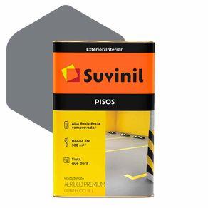 Tinta Acrílica Suvinil Piso Premium 18 Litros Cinza Fosco