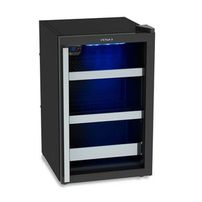 Cervejeira Venax Blue Light 100 82 Litros Controle Digital -6 a 0ºC e Porta de Vidro Preta 220V