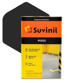 Tinta Acrílica Suvinil Piso Premium 18 Litros Preto Fosco
