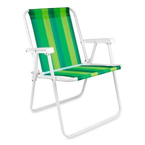 Cadeira de Praia Dobrável Mor em Aço e Cores Sortidas