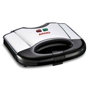 Sanduicheira Arno SACS Ultracompacta Inox e Preta 220V