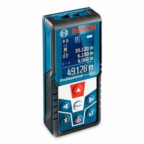 Trena a Laser Medidor de Distância Bosch GLM 50 C até 50 metros com Bluetooth e Memória 30 Medições