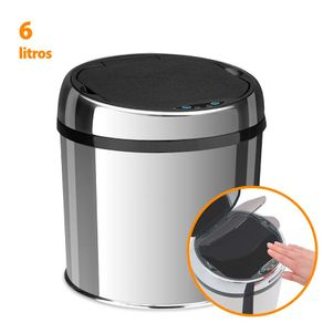 Lixeira Automática Tramontina Easy Abertura por Sensor em Inox Polido 6 Litros