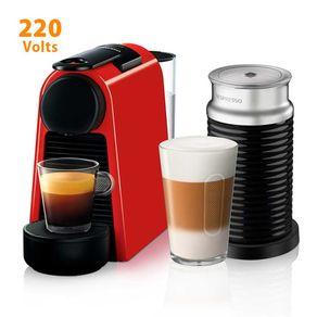 Cafeteira Expresso Nespresso Combo Essenza Mini com Aeroccino Ultracompacta Vermelha 220V