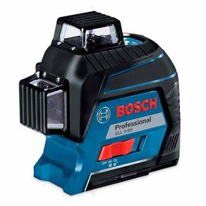 Nível a Laser de Linhas Bosch GLL 3-30 com 03 Linhas 360º até 80 metros