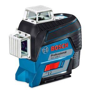 Nível a Laser de Linhas Bosch GLL 3-30 com 03 Linhas 360º até 80 Metros + Tripé