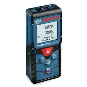Trena a Laser Medidor de Distância Bosch GLM 40 até 40 metros com Memória para 10 Medições