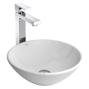Cuba de Apoio para Banheiro Deca L.155 35cm Redonda Branca