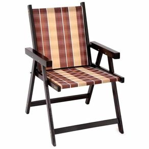 Cadeira de Varanda Dobrável Sol em Madeira Marrom Cadeira de Varanda Dobrável Sol em Madeira